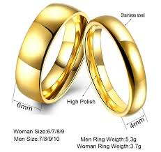jewelry couple rings images Simple couple wedding rings pair gold color couple rings stainless jpeg