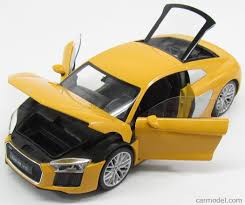 lexus lfa or audi r8 welly we18052 scale 1 18 audi r8 v10 plus coupe 2016 yellow