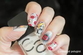 nail art pop art nail design using born pretty store stamping