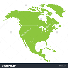 Map Of America Continent continent clipart north america pencil and in color continent