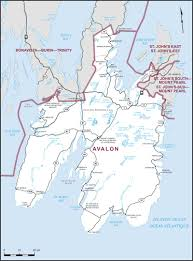 Newfoundland Canada Map by Avalon Maps Corner Elections Canada Online