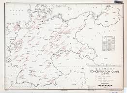 Germany On Map by Concentration Camp Us Intelligence History Office Of Strategic