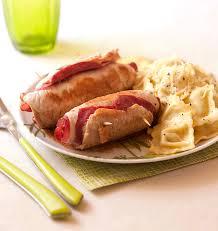 recette de cuisine escalope de dinde escalopes de dinde roulées à la bresaola et raviolis au basilic