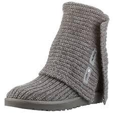 womens ugg boots grey amazon com ugg australia s cardy knit sheepskin