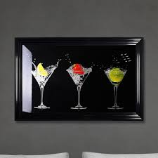 shh interiors cocktails print black made with liquid glass and