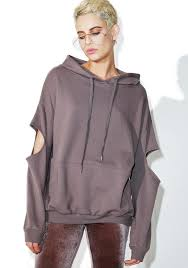 fade cut out hoodie fade cut ash grey and pullover