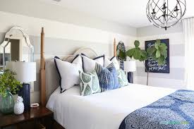 Bedroom Blue And Green Summer Guest Bedrooms Home Tour Life On Virginia Street
