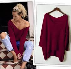 baggy sweaters 2016 autumn baggy tops batwing knitting shirts vetement cheap