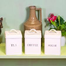 unbranded metal contemporary kitchen canisters jars ebay set of metal enamel tea coffee sugar storage canisters jars kitchen containers