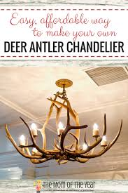 How To Make Antler Chandeliers Diy Deer Antler Chandelier The Of The Year