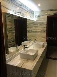 Wood Cladding Bathroom Walls Bamboo White Wooden Marble Polished Marble Slabs With Green Veins