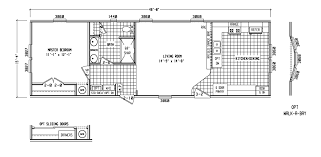 Two Bedroom Cottage Floor Plans Imposing Interesting 1 Bedroom Mobile Homes Floor Plans Two