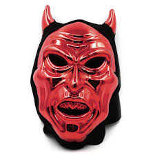 buy scary red halloween mask plastic devil ghost mask with ox horn