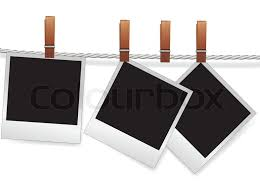 blank photo album photo snapshot frames on rope for scrap polaroid blank for picture