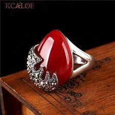 natural rock rings images Kcaloe waterdrop green stone ring natural wedding band vintage jpg