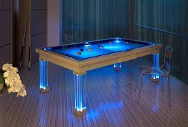 Neon Lighted Pool Tables Dining Room Pool Tables By Generation - Pool table dining room table top