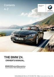 bmw z4 2015 e89 owner u0027s manual