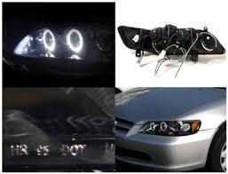 Honda Accord Lights Honda Accord 1998 2002 Smoked Halo Projector Headlights With Led