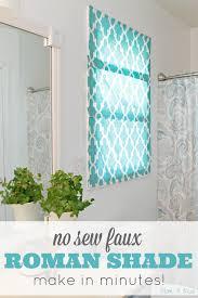Easy No Sew Curtains Easy No Sew Roman Shade Tutorial Mom 4 Real