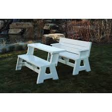 Wooden Picnic Tables With Separate Benches Convert A Bench Walmart Com