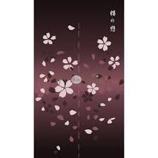Cherry Blossom Curtains Amazon Com Japanese Noren Tapestry Door Curtain Cherry Blossom