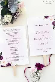 where to get wedding programs printed margarette burgundy wedding program fan modern wedding programs