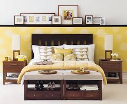 Yellow And Grey Bedroom by Bedroom Contemporary Yellow Bedroom With Awesome Wall Art