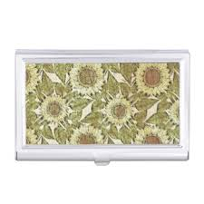 Vintage Business Card Case Sunflower Business Card Holders U0026 Cases Zazzle