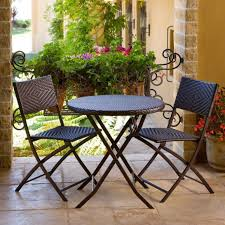 Espresso Bistro Table Outdoor Bistro Patio Furniture Set In Espresso Table Sets Uk
