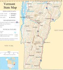 Detailed Map Of Usa by Vermont State Map A Large Detailed Map Of Vermont State Usa