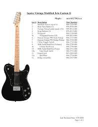 download free pdf for squier vintage modified tele custom ii