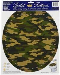 spectacular deal on toilet tattoos army camo in round camouflage