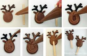 twelve days of sweet designs day 4 chocolate reindeer lollipops