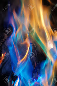 abstract blue and orange flames stock photo picture and royalty
