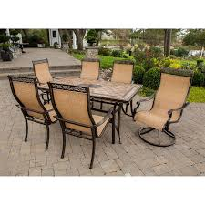 Patio Dining Set With Bench Monaco 7 Dining Set Monaco7pcsw