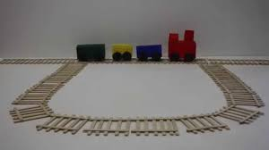Make Wood Toy Train Track by How To Make A Train And Train Tracks Fun Arts And Crafts Project