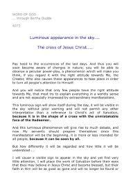 4073 luminous appearance in the sky the cross of jesus christ u2026