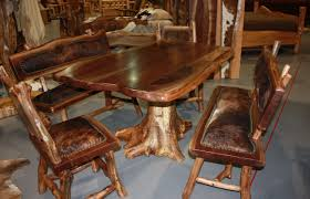 furniture lovely decoration log dining room table beautiful