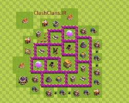 coc map layout th6 map for th6 coc mohamadktm