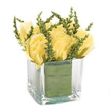 faux flower arrangements nattol lifelike mini yellow artificial roses bouquet