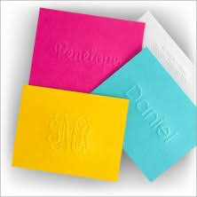 embossed note cards quality design personalized stationery folded note cards