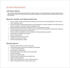 Resume Junior Accountant Payroll Accountant Job Description Resume Payroll Accountant