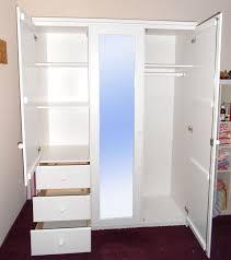 Schlafzimmerschrank Buche Massiv Kleiderschrank 147x200x58cm 3 Türen 1 Spiegeltür 3 Schubladen