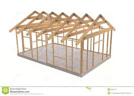 Frame House Wood House Frame Stock Photo Image 9057210