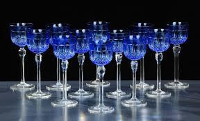 bicchieri boemia dodici bicchieri in cristallo di boemia incolore e