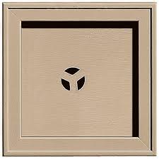 vinyl siding light mount builders edge 7 75 in x 7 75 in 069 tan recessed square universal
