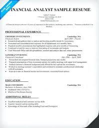 compliance analyst resume sample financial analyst resume examples
