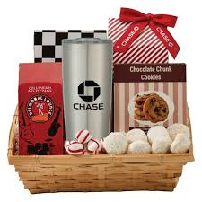 cookie gift baskets coffee cookie gift basket with travel tumbler