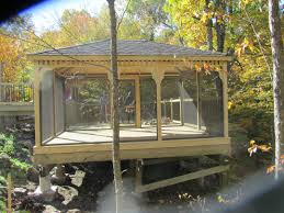 Gazebo Fire Pit Ideas by Gazebos And Pergolas This Wooden Rectangular Gazebo Was Built On