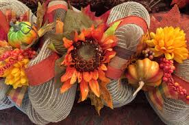 deco mesh halloween garland fall sunflower garland pumpkin burlap harvest mantel